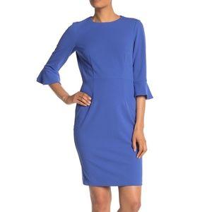 Donna Morgan Ruffle Cuff Sheath Dress Sz 2